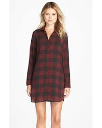 BB Dakota | Black 'cotter' Plaid Shirtdress | Lyst