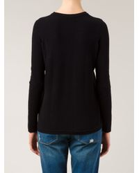 Vince - Black Side-Zip Ribbed Sweater - Lyst