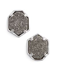 Kendra Scott | Metallic 'logan' Stud Earrings | Lyst