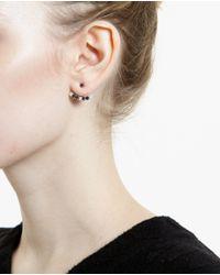 Yvonne Léon - Black 18K White Gold And Diamond Lobe Earring - Lyst