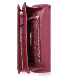 Tory Burch | Red Britten Combo Cross Body Bag - Bark | Lyst