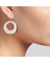 John Lewis - Metallic Circle Hook Earrings - Lyst