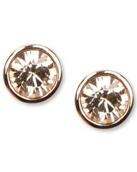 Givenchy   Pink Rose Gold-tone Swarovski Element Stud Earrings   Lyst