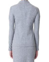 Tibi - Gray Wool Jersey Slim Turtleneck - Lyst