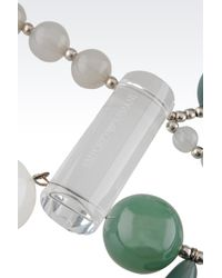 Emporio Armani - Green Necklace with Resin Spheres - Lyst