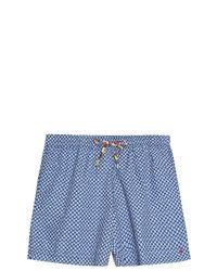 120% Lino - Blue Boxer Swim Shorts for Men - Lyst