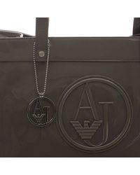 Armani Jeans - Gray Handbag Patent Shoppin 1 Zip - Lyst