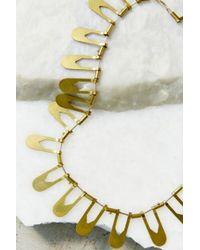 Better Late Than Never   Metallic Aten Collar Necklace   Lyst