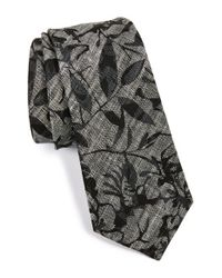 W.r.k. | Black Floral Linen Tie for Men | Lyst
