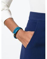 BVLGARI Blue 'serpenti' Wrap Bracelet