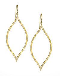 Jamie Wolf - Metallic Engraved Diamond Leaf Earrings - Lyst