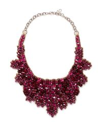 Valentino Red Crystal Embellished Satin Backing Choker