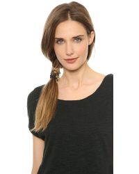 Marc By Marc Jacobs Black Classic Marc Pony Hair Ties