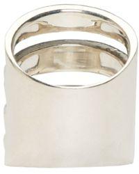 Pamela Love | Metallic Silver Single Cage Ring | Lyst