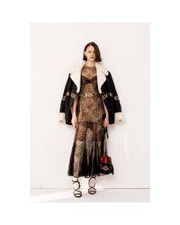 Alessandra Rich Black Shearling-lined Jacket