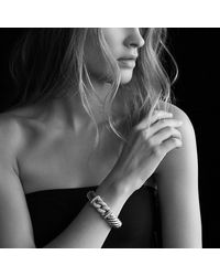 David Yurman | Metallic Metro Bracelet With Diamonds In Gold | Lyst