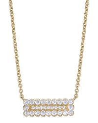 Jamie Wolf | Metallic Medium Double Scallop Pave Diamond Rectangle Necklace | Lyst