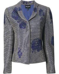 Giorgio Armani Blue Floral Print Blazer