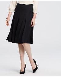 Ann Taylor | Black Petite Jersey Midi Skirt | Lyst