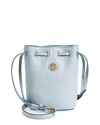 Tory Burch Blue 'mini Brody' Crossbody Bucket Bag