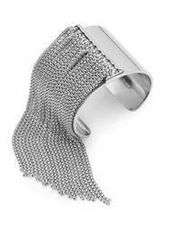 BCBGeneration | Metallic Snake Charmer Fringe Cuff Bracelet | Lyst