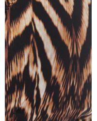 Heidi Klein Brown Kerala Printed Triangle Bikini Top