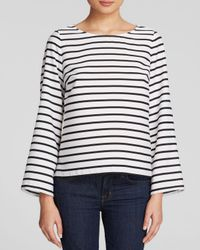 Calvin Klein Black Striped Top