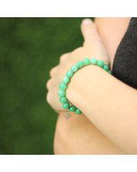 Sydney Evan | Green Diamond Moroccan Charm Beaded Bracelet | Lyst