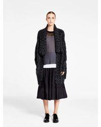 DKNY - Black Pure Shawl Collar Cardigan - Lyst