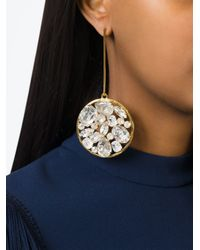 Stella McCartney | Metallic Stone Drop Earring | Lyst