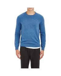 ATM Blue Flecked Cashmere Sweater for men