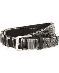 DIESEL Black Betion Metal Safety Pin Belt - For Men for men