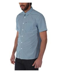 Bench | Blue Rapson Pattern Classic Fit Short Sleeve Shirt for Men | Lyst