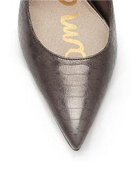 Sam Edelman Metallic Dea Snake Print Leather Pumps