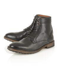 Frank Wright Black Action Mens Lace-up Boots for men