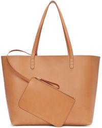Mansur Gavriel - Brown Tan Leather Large Tote - Lyst