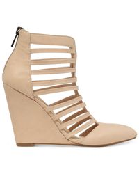 Jessica Simpson - Natural Viine Caged Wedge Shooties - Lyst