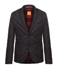BOSS Orange | Black Jacket 'bolday-w' In A Quilted Effect for Men | Lyst
