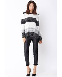 Forever 21 - Black Contemporary Gallery Girl Colorblocked Sweater - Lyst