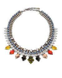 DANNIJO - Multicolor Cayden Crystal Necklace - Lyst