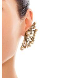 Erickson Beamon - Metallic Stratosphere Faux-Pearl & Crystal Ear Cuffs - Lyst