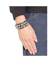 Balenciaga | Black Giant Stud Leather Bracelet | Lyst