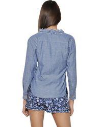 Étoile Isabel Marant Blue Cotton Linen Chambray Shirt