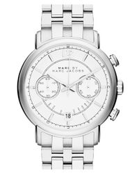 Marc By Marc Jacobs - Metallic 'fergus' Chronograph Bracelet Watch for Men - Lyst
