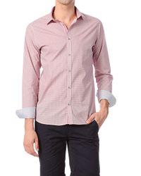 Ted Baker   Red Geo Tile Print Cotton Shirt for Men   Lyst