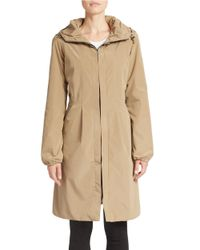 Gallery | Natural Hooded Front-zip Anorak | Lyst