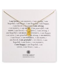 "Dogeared - Metallic I Am Loved Small Dog Tag Necklace, 18"" - Lyst"