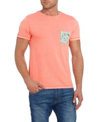 Blend - Red Plain Crew Neck Regular Fit T-shirt for Men - Lyst