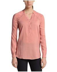 BOSS Orange - Pink Silk Blouse: 'efivee_4' - Lyst