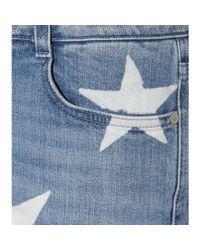 Stella McCartney Blue Printed Skinny Boyfriend Jeans